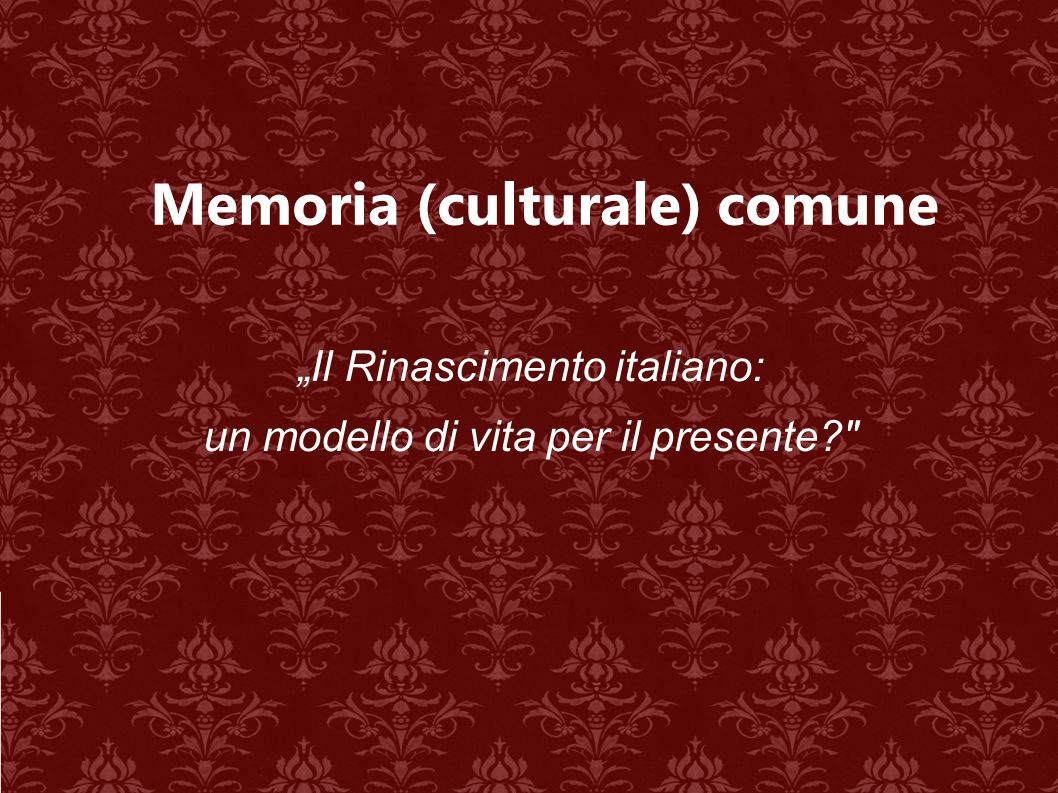 Memoria (culturale) comune