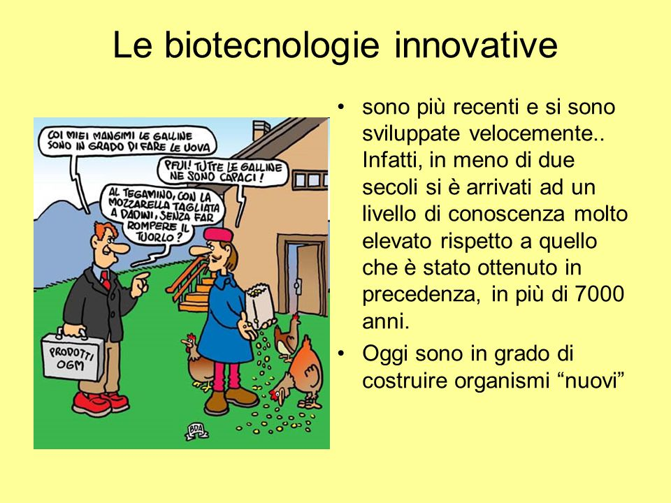 Le biotecnologie innovative