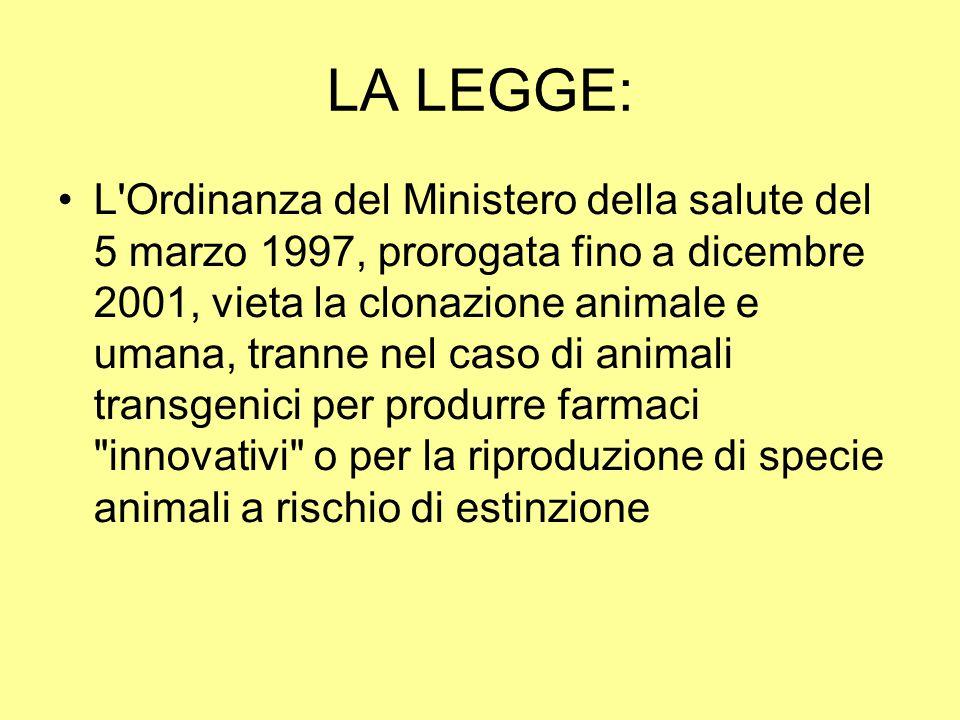 LA LEGGE: