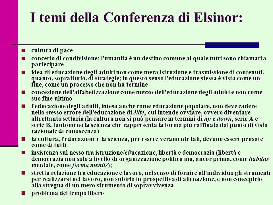 I temi della Conferenza di Elsinor: