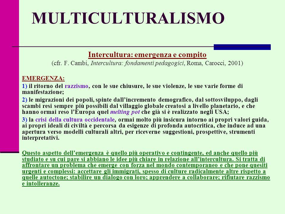 Intercultura: emergenza e compito