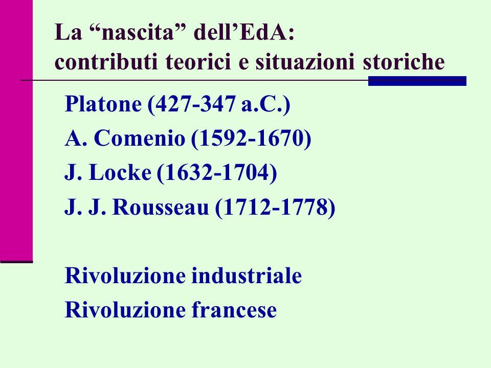 La nascita dell'EdA: contributi teorici e situazioni storiche