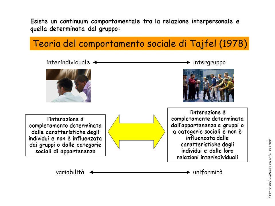 Teoria del comportamento sociale