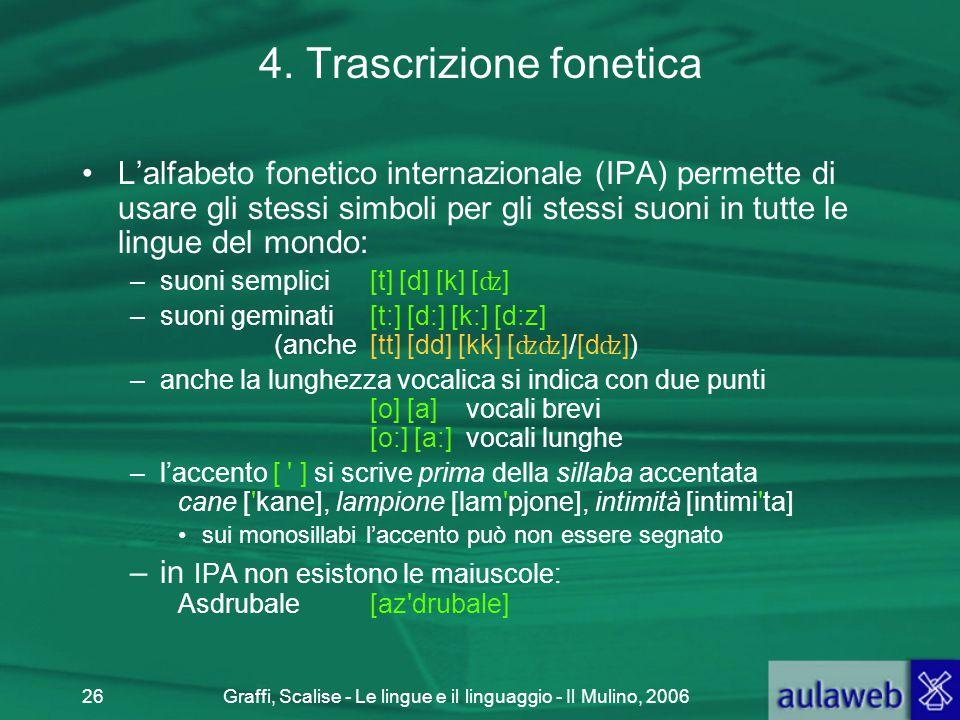 4. Trascrizione fonetica