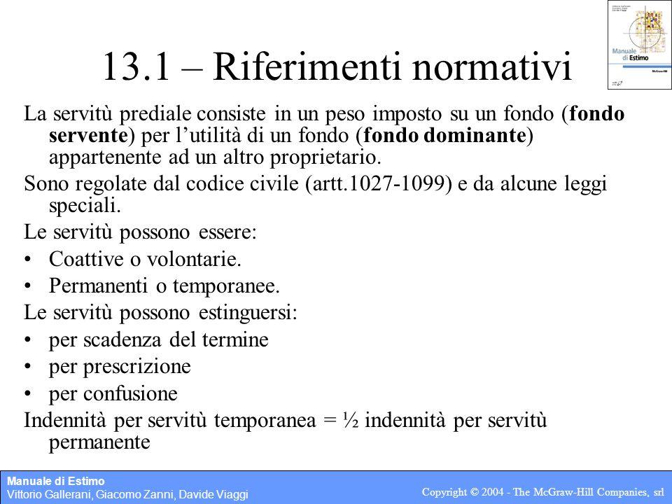 13.1 – Riferimenti normativi