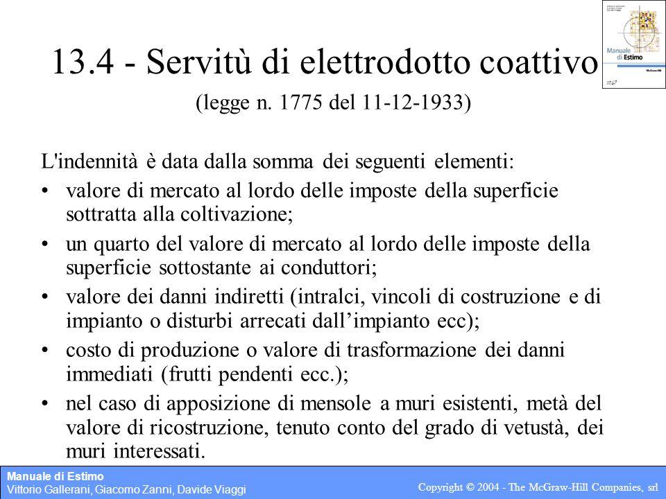 13.4 - Servitù di elettrodotto coattivo