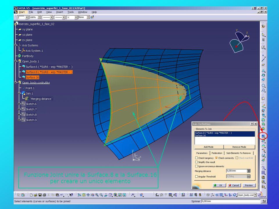 Funzione Joint unire la Surface.8 e la Surface.16