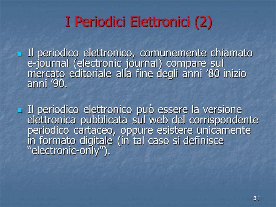 I Periodici Elettronici (2)