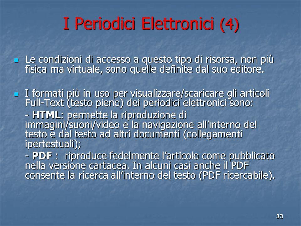 I Periodici Elettronici (4)