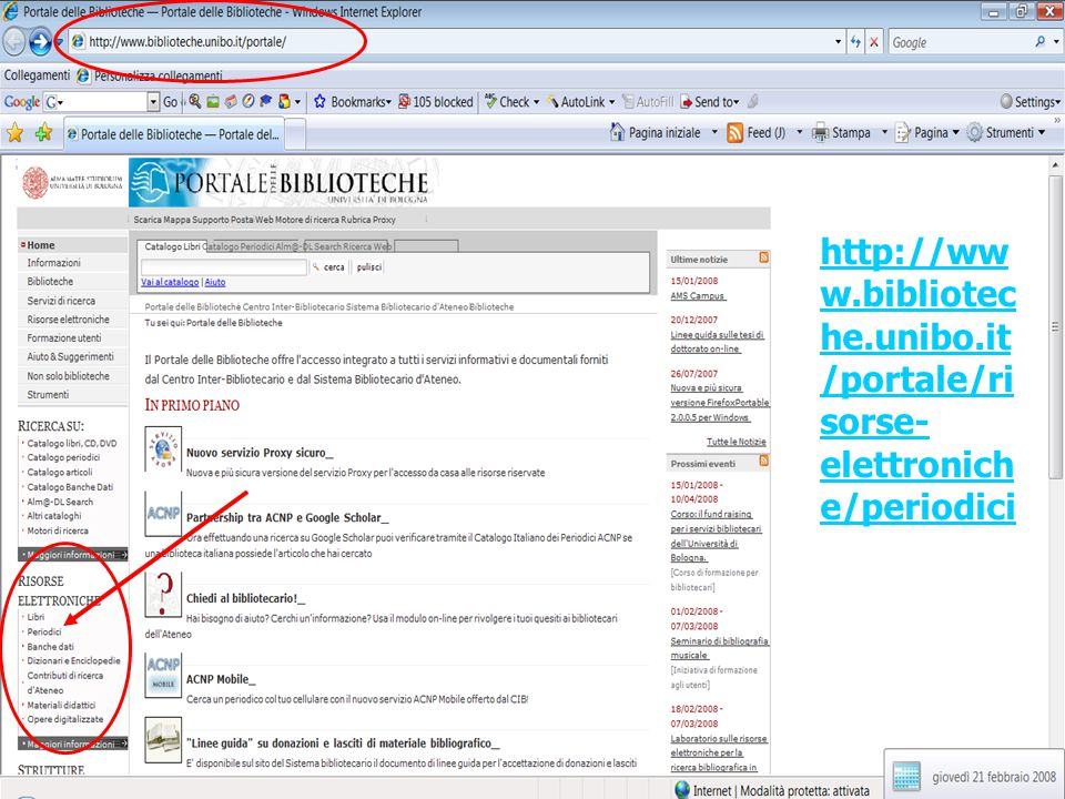 http://www. biblioteche. unibo