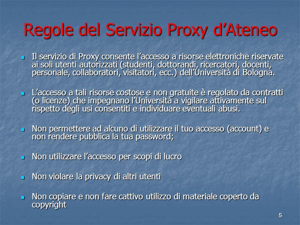 Regole del Servizio Proxy d'Ateneo