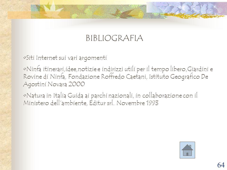 BIBLIOGRAFIA Siti Internet sui vari argomenti