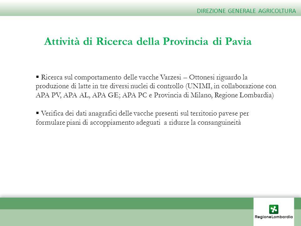 Attività di Ricerca della Provincia di Pavia