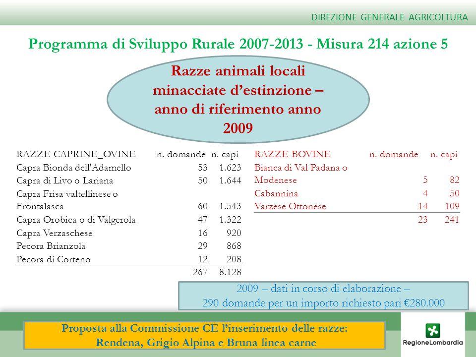 Programma di Sviluppo Rurale 2007-2013 - Misura 214 azione 5