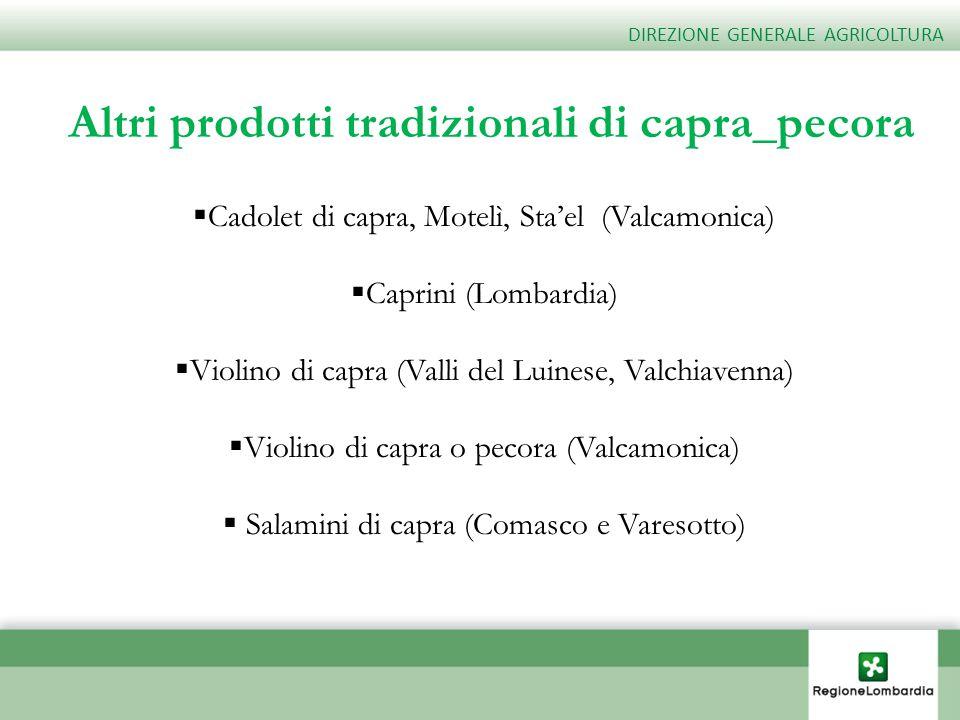 Altri prodotti tradizionali di capra_pecora