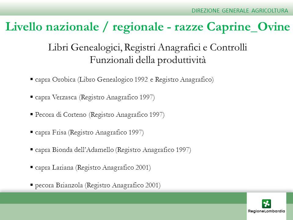 Livello nazionale / regionale - razze Caprine_Ovine