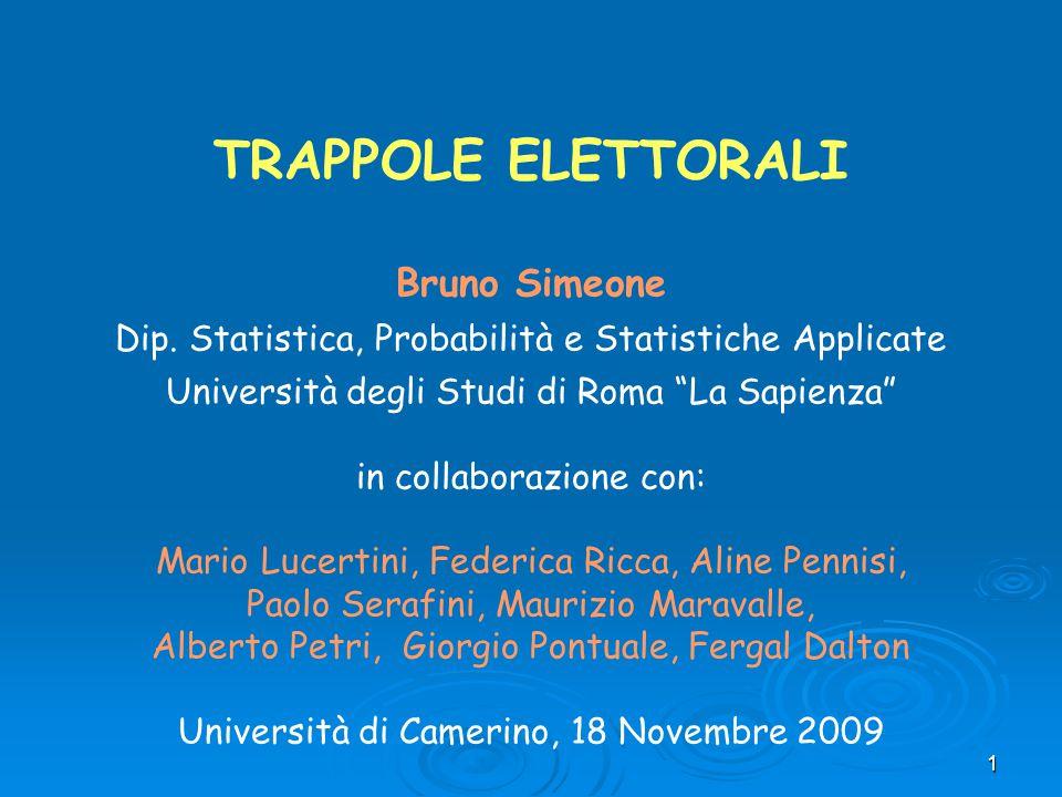 TRAPPOLE ELETTORALI Bruno Simeone