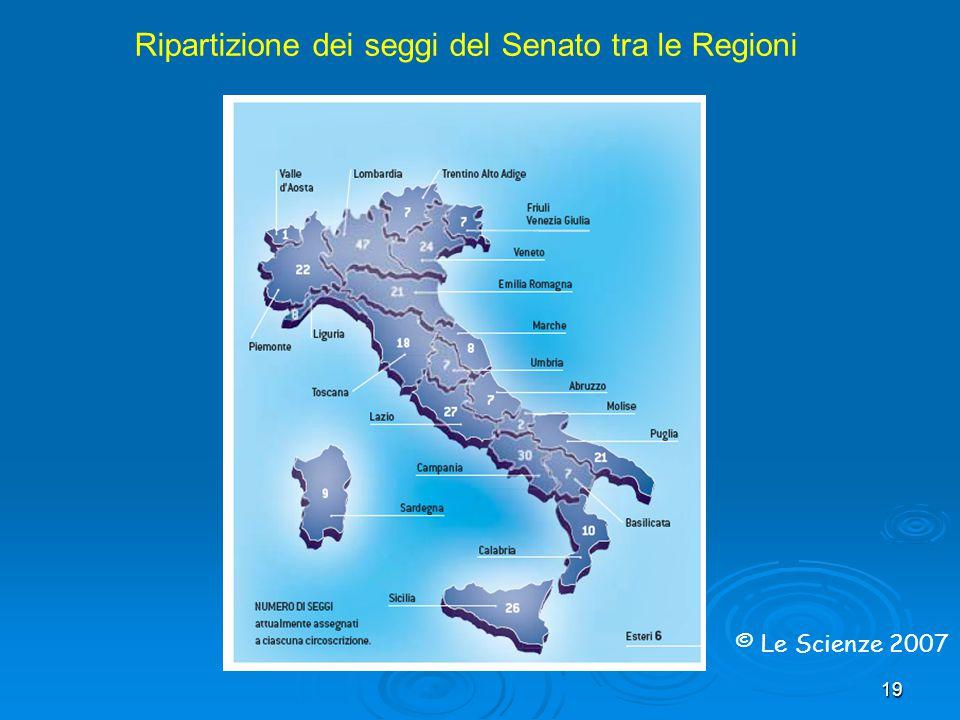 Ripartizione dei seggi del Senato tra le Regioni
