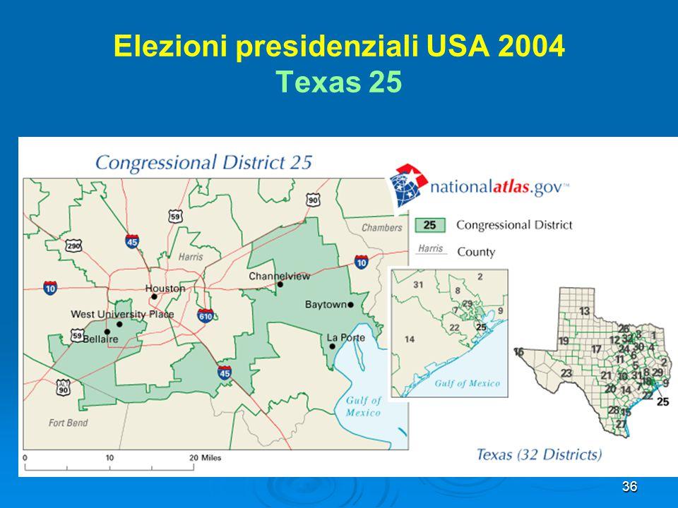 Elezioni presidenziali USA 2004 Texas 25