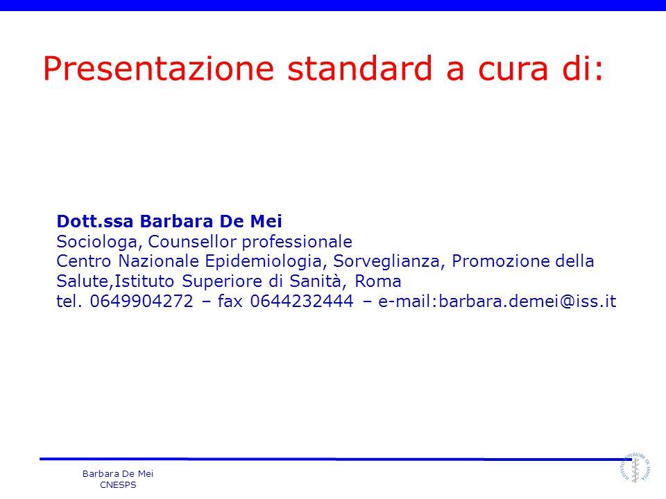 Presentazione standard a cura di: