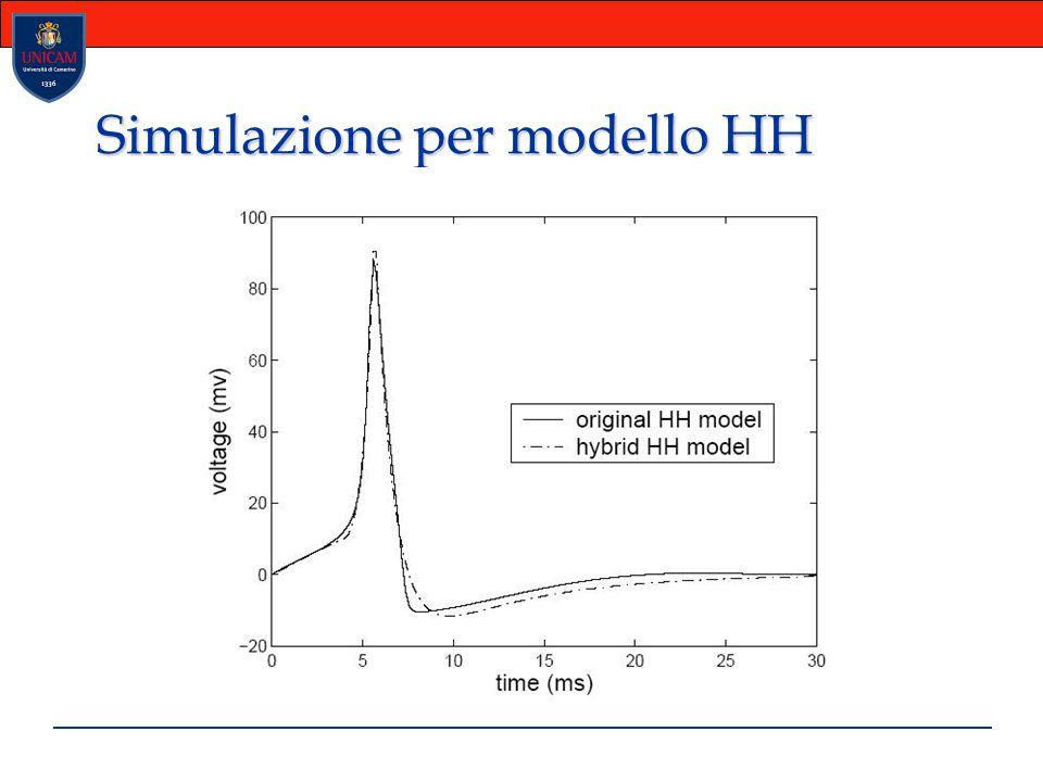 Simulazione per modello HH