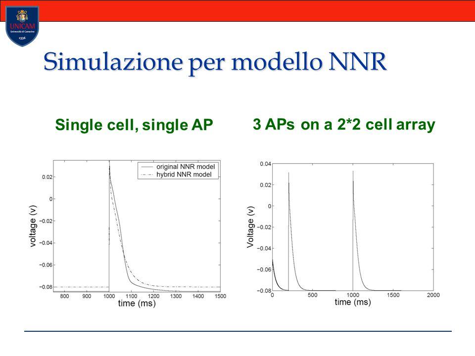 Simulazione per modello NNR