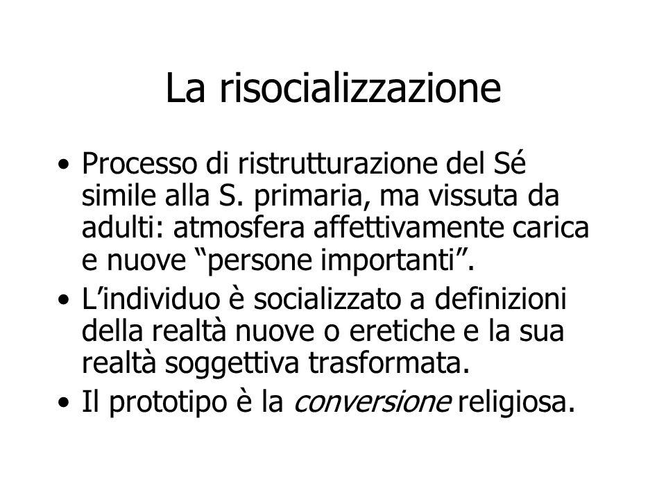 La risocializzazione