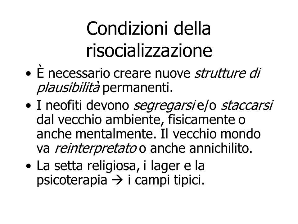 Condizioni della risocializzazione