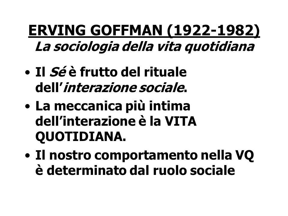 ERVING GOFFMAN (1922-1982) La sociologia della vita quotidiana