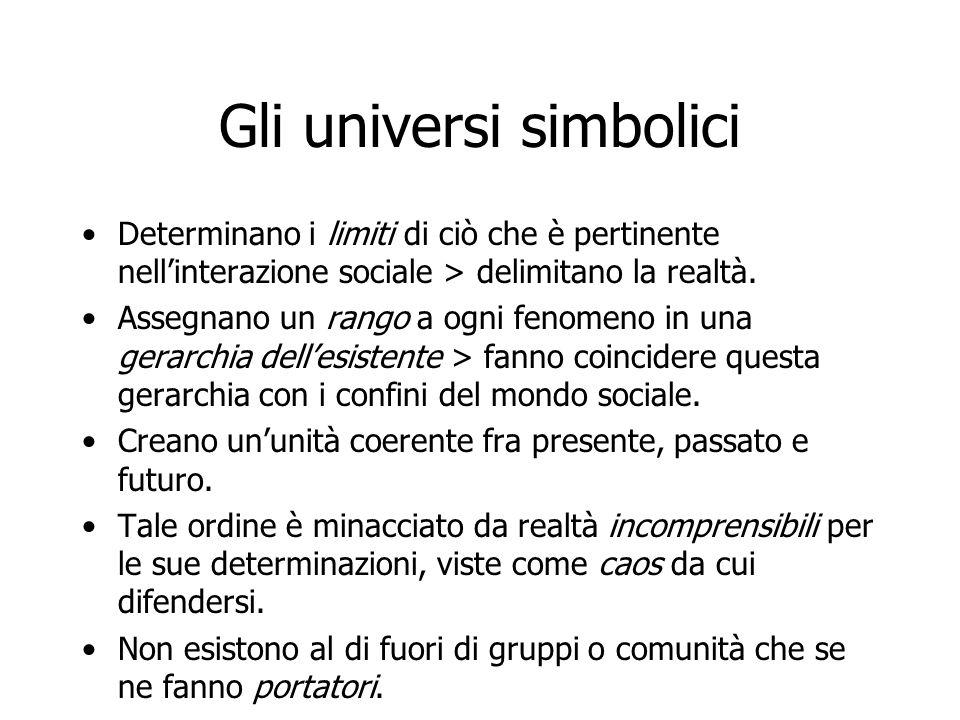 Gli universi simbolici