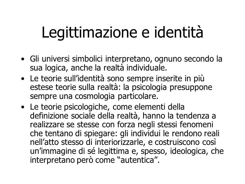 Legittimazione e identità