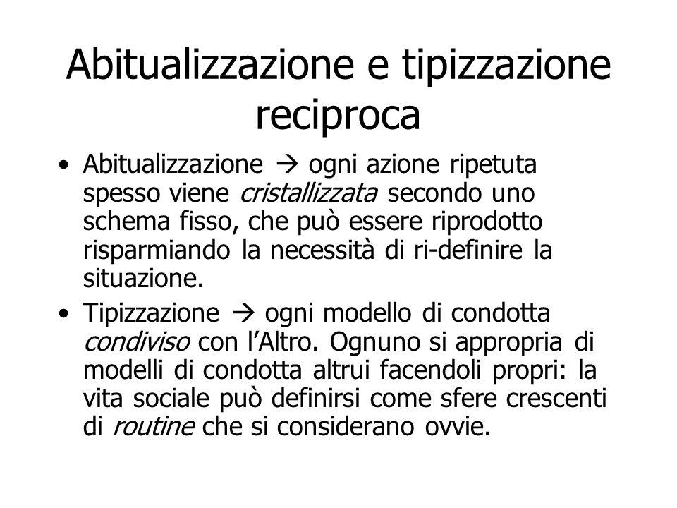 Abitualizzazione e tipizzazione reciproca