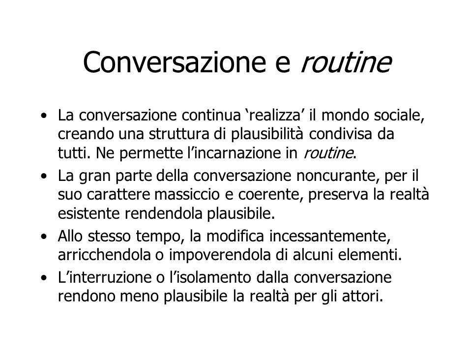 Conversazione e routine