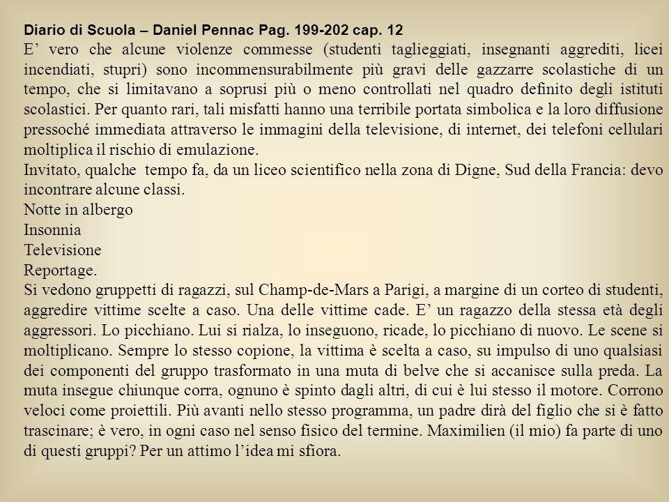 Diario di Scuola – Daniel Pennac Pag. 199-202 cap. 12