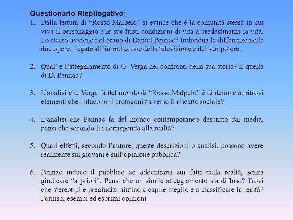 Questionario Riepilogativo: