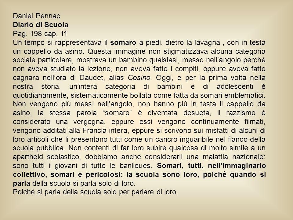 Daniel Pennac Diario di Scuola. Pag. 198 cap. 11.