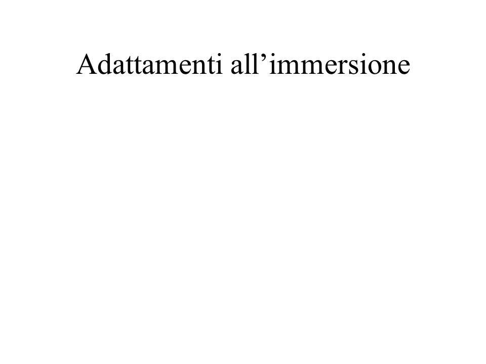 Adattamenti all'immersione