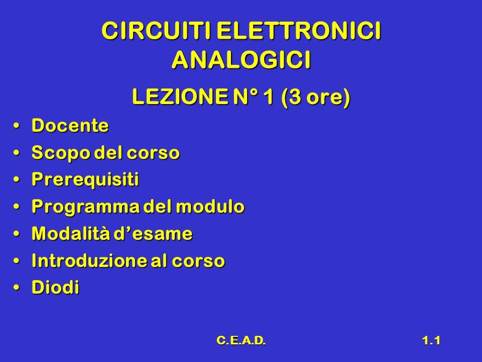 CIRCUITI ELETTRONICI ANALOGICI