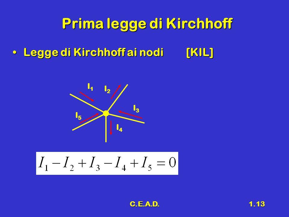 Prima legge di Kirchhoff