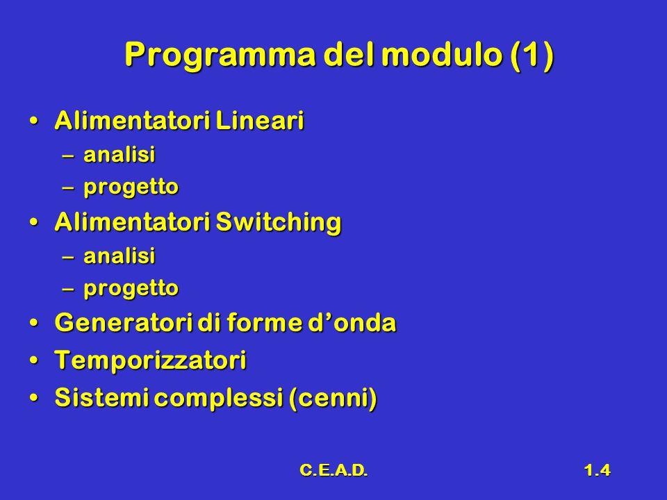 Programma del modulo (1)