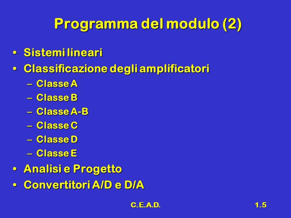 Programma del modulo (2)