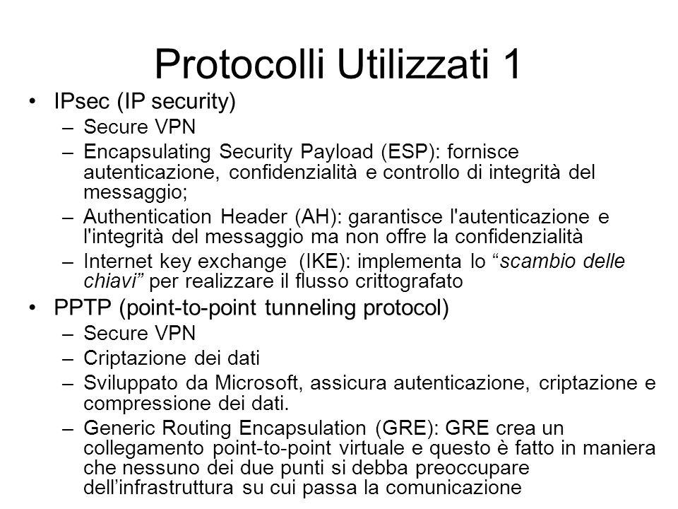 Protocolli Utilizzati 1