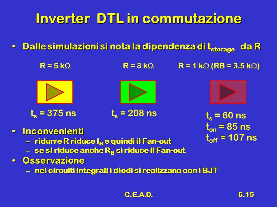 Inverter DTL in commutazione