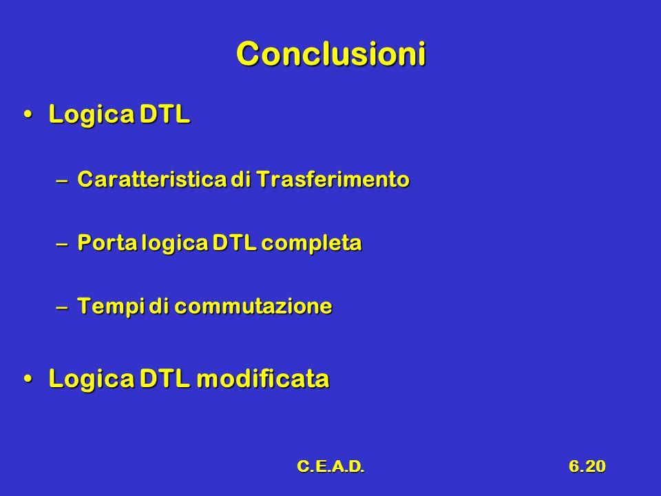 Conclusioni Logica DTL Logica DTL modificata