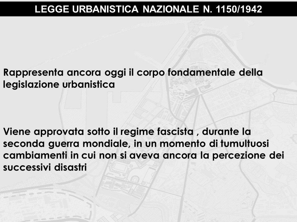 LEGGE URBANISTICA NAZIONALE N. 1150/1942