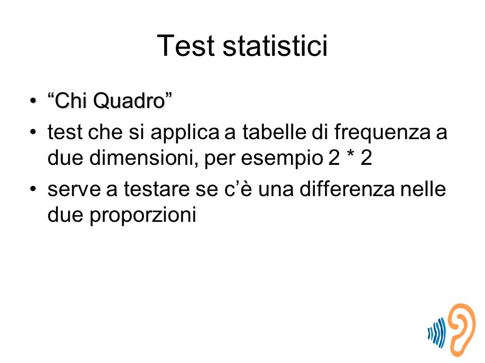 Test statistici Chi Quadro