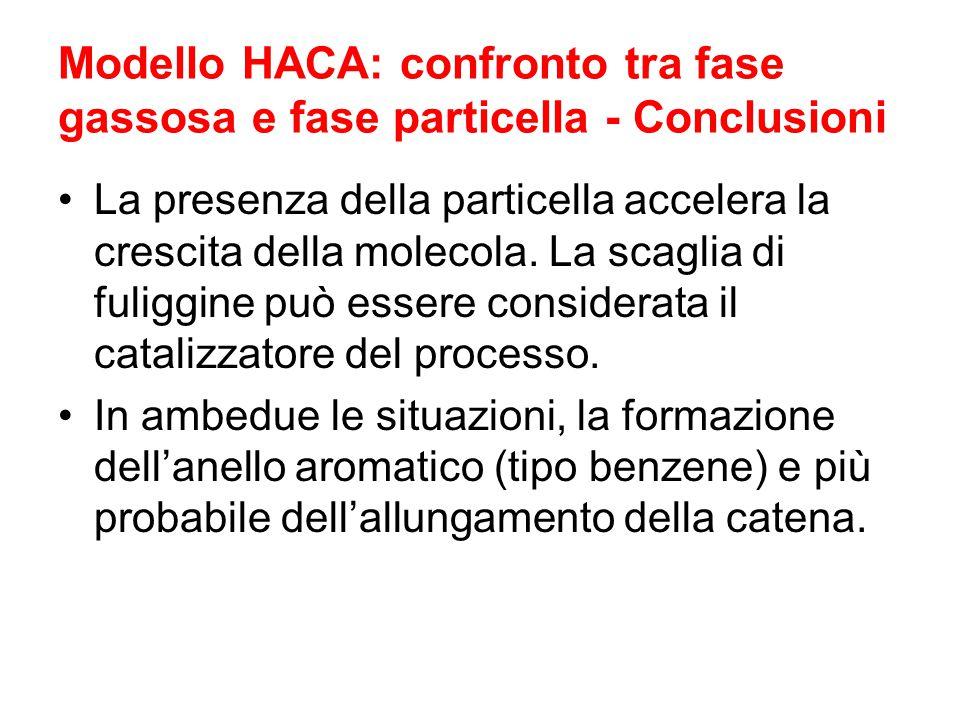 Modello HACA: confronto tra fase gassosa e fase particella - Conclusioni