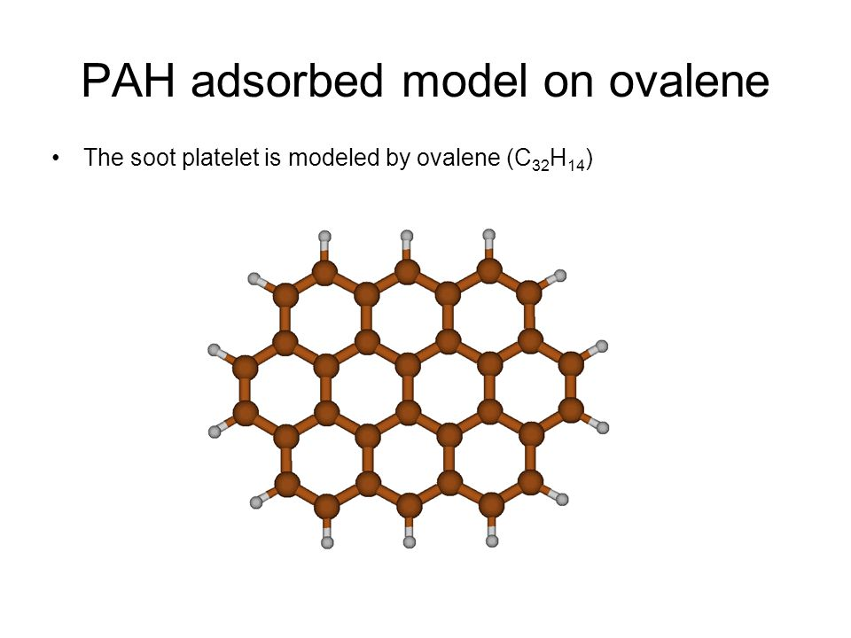 PAH adsorbed model on ovalene