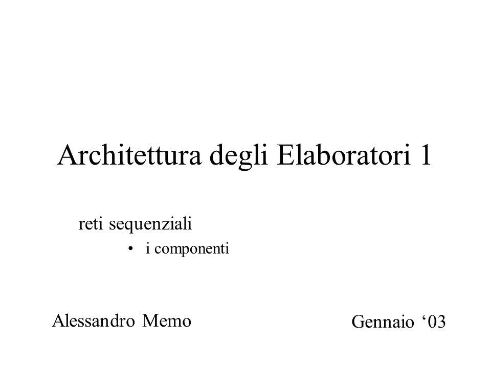 Architettura degli Elaboratori 1