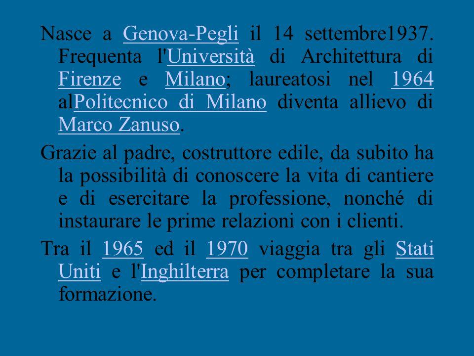 Nasce a Genova-Pegli il 14 settembre1937